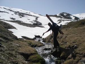 freeride barranco san juan güejar aventura sierra nevada