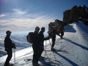 excursiones 2009 esqui de travesia güejar aventura sierra nevada
